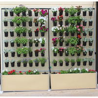 Poly Mesh Wall Garden and Planter with hanging pots [117 x 37 x 190cm]